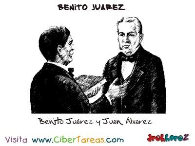 Benito Juarez y Juan Alvarez-Benito Juarez