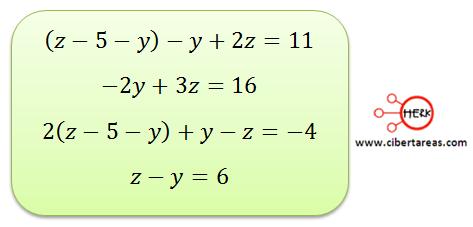 Ecuaciones simultaneas de tres por tres con solución o sin solución 2