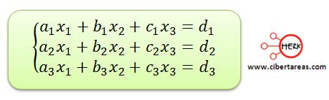 Ecuaciones simultaneas de tres por tres con solución o sin solución 3