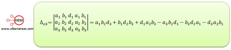Ecuaciones simultaneas de tres por tres con solución o sin solución 9
