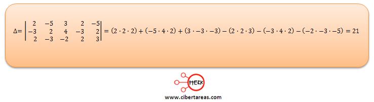 Ecuaciones simultaneas de tres por tres con solución o sin solución ejemplo 1
