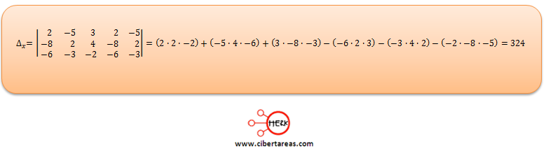 Ecuaciones simultaneas de tres por tres con solución o sin solución ejemplo 2