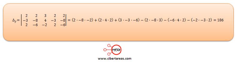 Ecuaciones simultaneas de tres por tres con solución o sin solución ejemplo 3