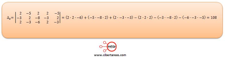 Ecuaciones simultaneas de tres por tres con solución o sin solución ejemplo 4