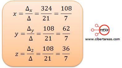 Ecuaciones simultaneas de tres por tres con solución o sin solución ejemplo 5