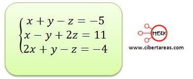 Ecuaciones simultaneas de tres por tres con solución o sin solución