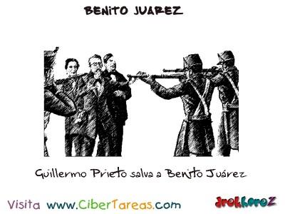 Guillermo Prieto salva a Benito Juarez-Benito Juarez