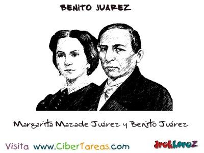 Margarita Maza de Juárez y Benito Juárez-Benito Juarez