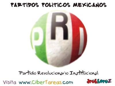 Partido Revolucionario Institucional-Partidos Politicos Mexicanos