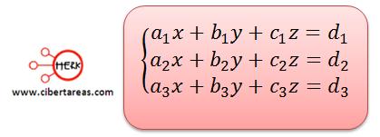 Sistemas de ecuaciones simultaneas de tres ecuaciones con tres incógnitas 1