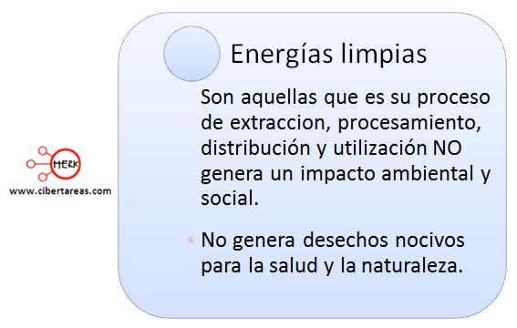 mapa conceptual energias limpias o no contaminantes