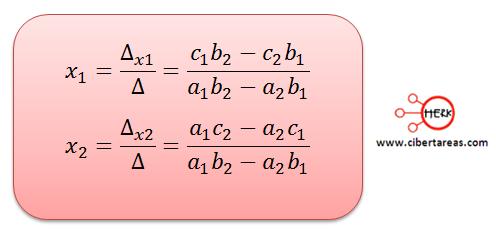metodo algebraico de determinantes 4