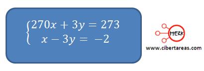 metodo algebraico de sustitucion