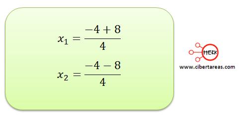 metodo algebraico por formula general 10