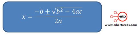 metodo algebraico por formula general 2
