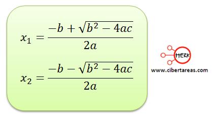 metodo algebraico por formula general 5