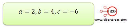 metodo algebraico por formula general 6