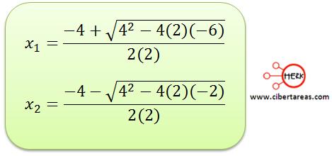 metodo algebraico por formula general 7