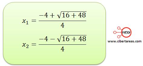metodo algebraico por formula general 8