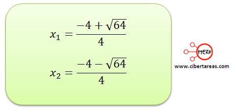 metodo algebraico por formula general 9