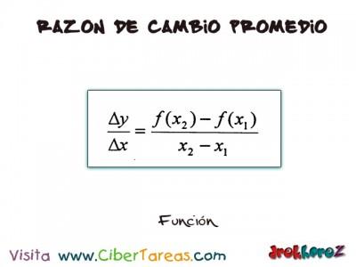 Funcion de Razon Cambio Promedio-Calculo Diferencial