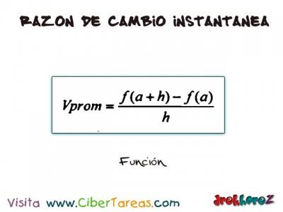 Funcion de Razon de Cambio Instantanea-Calculo Diferencial