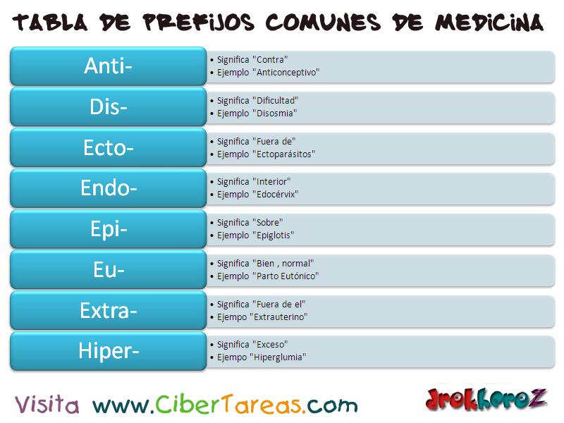Tabla de Prefijos Comunes de Medicina – Ciencias de la Salud_1 ...