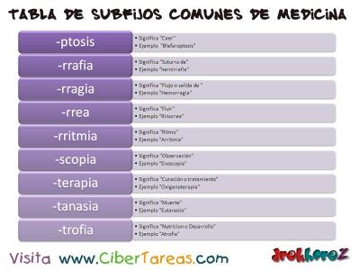 Tabla de Subfijos comunes de Medicina 3_Ciencias de la Salud_1