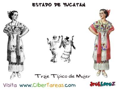 Traje Tipico de Mujer-Estado de Yucatan