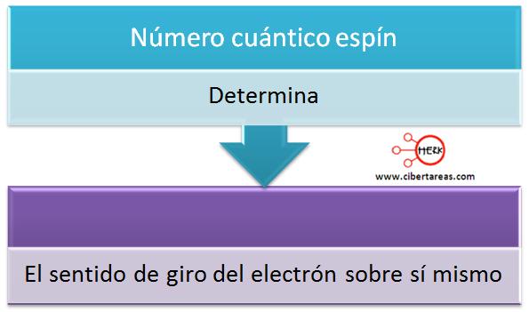 mapa conceptual numero cuantico espin
