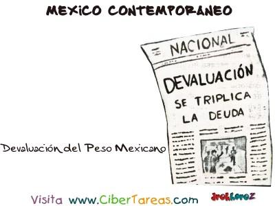 Devaluación del Peso Mexicano- Mexico Contemporaneo