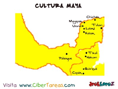 Mapa y Origen - Cultura Maya