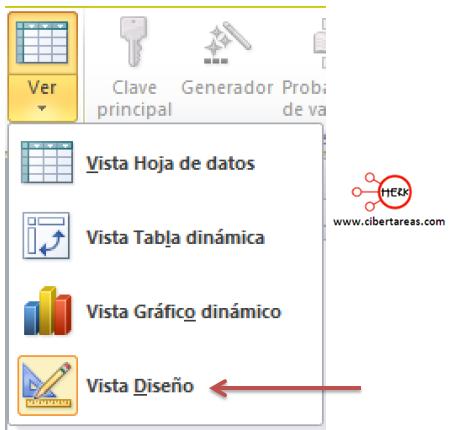 access 2010 ejercicio crear tabla herramientas informaticas