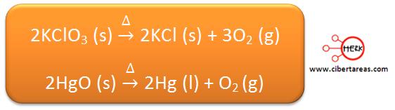descomposicion quimica ejemplo