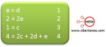 metodo algebraico balanceo ecuaciones quimicas ejemplo 3