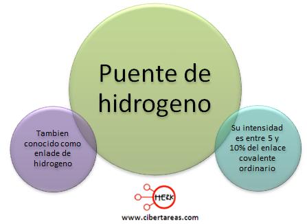 puente de hidrogeno mapa conceptual