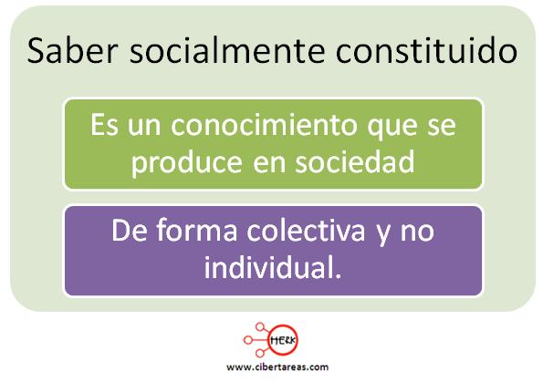 saber socialmente constituido definicion mapa conceptual etica valores