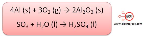 sintesis quimica formula ejemplo