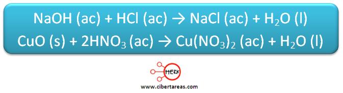 sustitucion doble quimica ejemplo