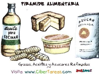 Grasas,Aceites y Azucaares Refinadas - Piramide Alimenticia