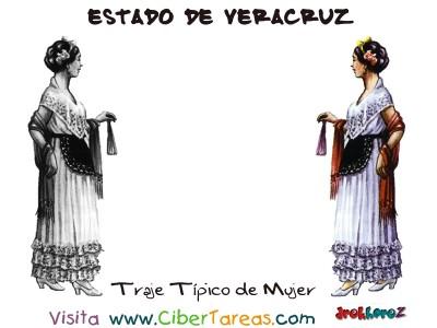Traje Tipico de Mujer - Estado de Veracruz