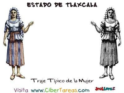 Traje Tipico de la Mujer - Estado de Tlaxcala