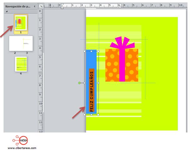 Crear una tarjeta de felicitación – Publisher 2010 ...