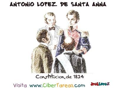 Constitucion de 1824 - Santa Anna