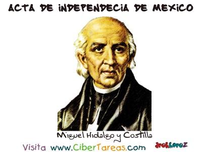 Miguel Hidalgo - Acta de Independica de Mexico