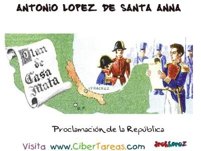 Proclamacion de la Republica - Santa Anna