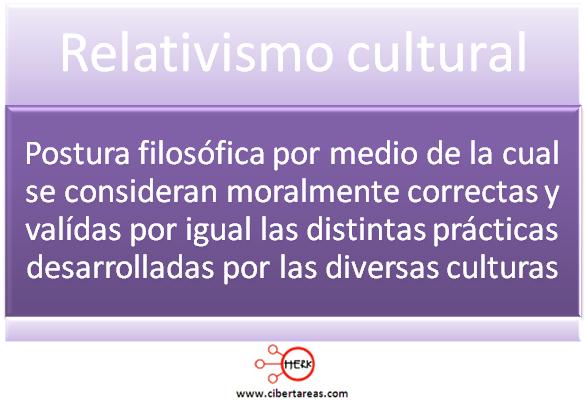 relativismo cultural etica y valores mapa conceptual