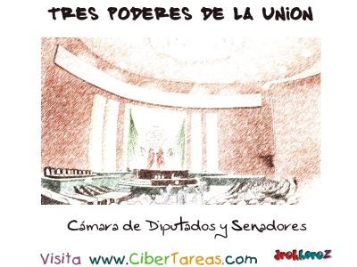 Camara de Diputados y Senadores -Tres Poderes de la Union