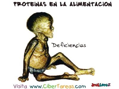 Deficiencias - Proteinas en la Alimentacion