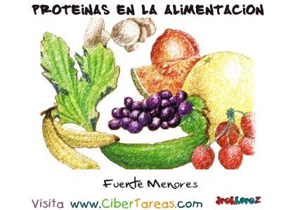 Fuentes Menores - Proteinas en la Alimentacion